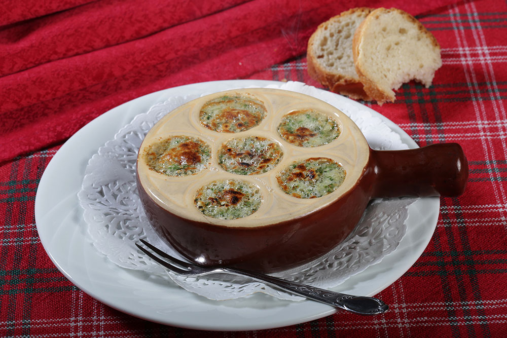 Escargots au Roquefort
